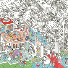 OMY Giant coloring poster Crazy Museum