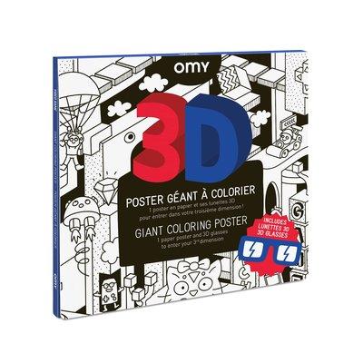 OMY Poster géant à colorier 3D Video game