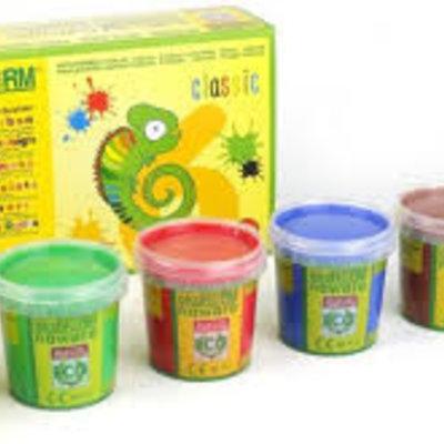 Ökonorm Peinture aux doights kit (4 couleurs)