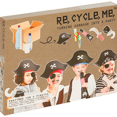 Re-Cycle-Me Knutselpakket piraten partybox