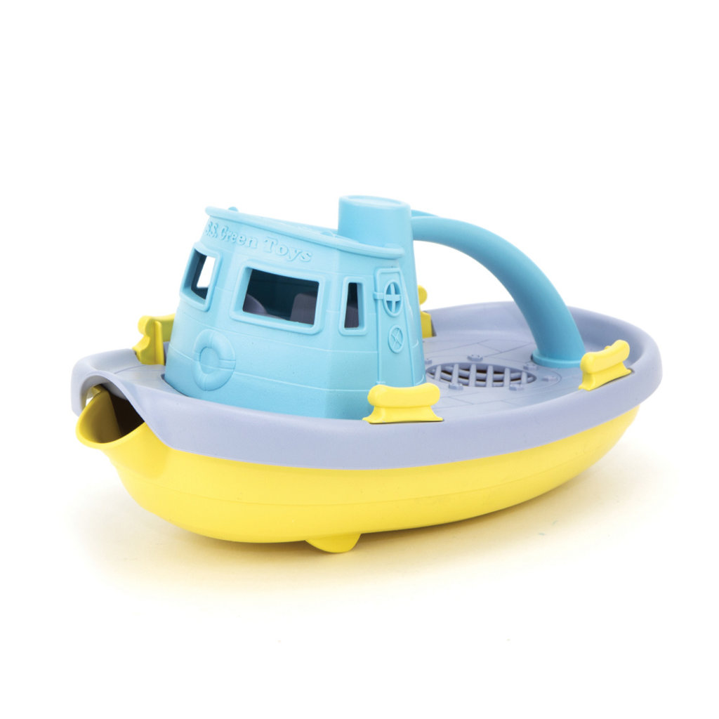 Green Toys Tugboat pastel yellow top