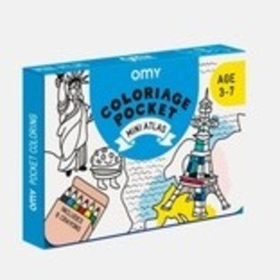 OMY Coloriage pocket mini 'Atlas'