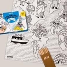 OMY Pocket kleurposter mini atlas