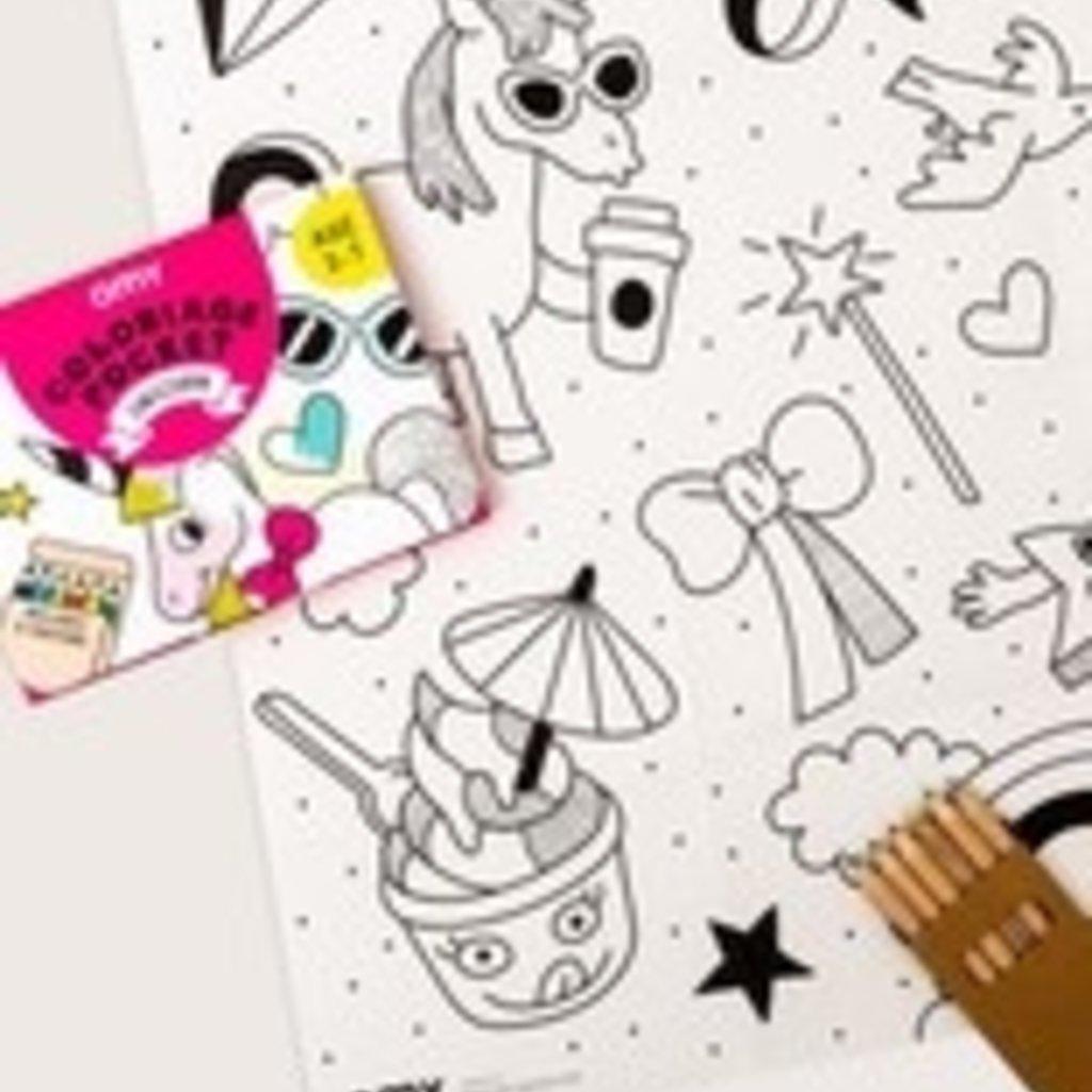 OMY Pocket kleurposter unicorn