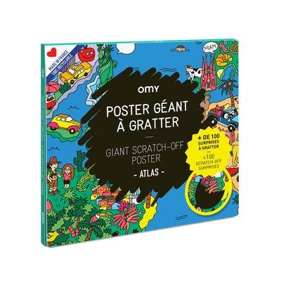 OMY Poster géant à gratter atlas