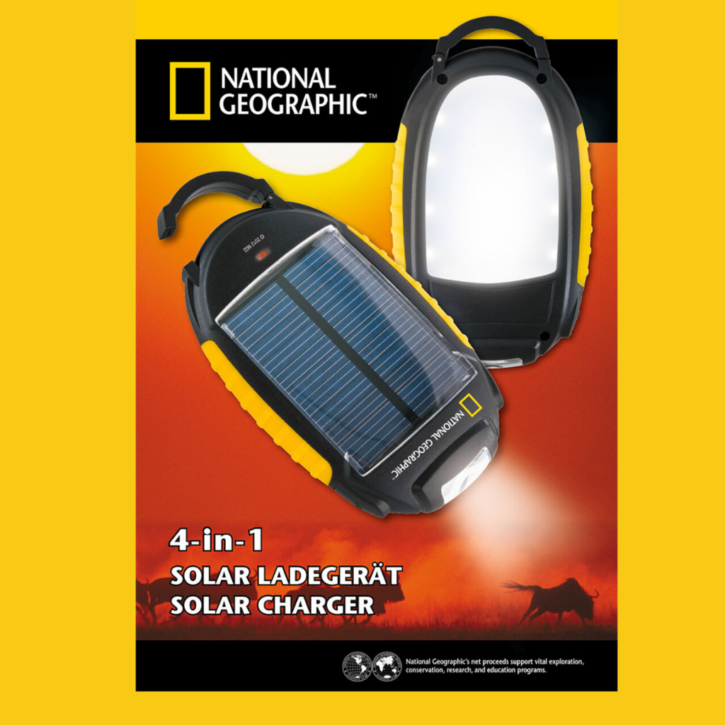 National Geographic Chargeur solaire 4-in1