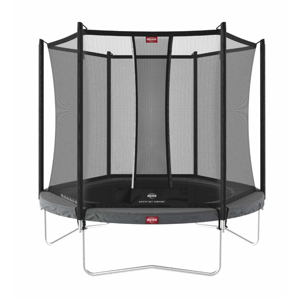 BERG trampolines Trampoline Favorit 200 grijs + veiligheidsnet Comfort