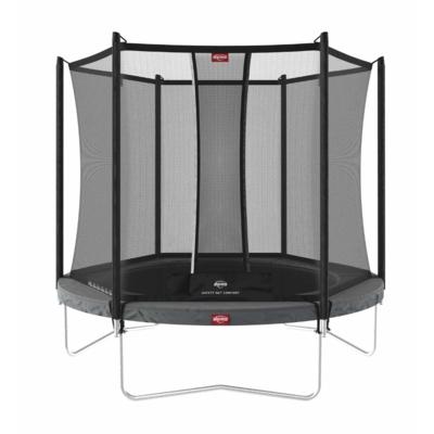 BERG trampolines Trampoline Favorit 200 Gris + Fillet de sécurité Comfort