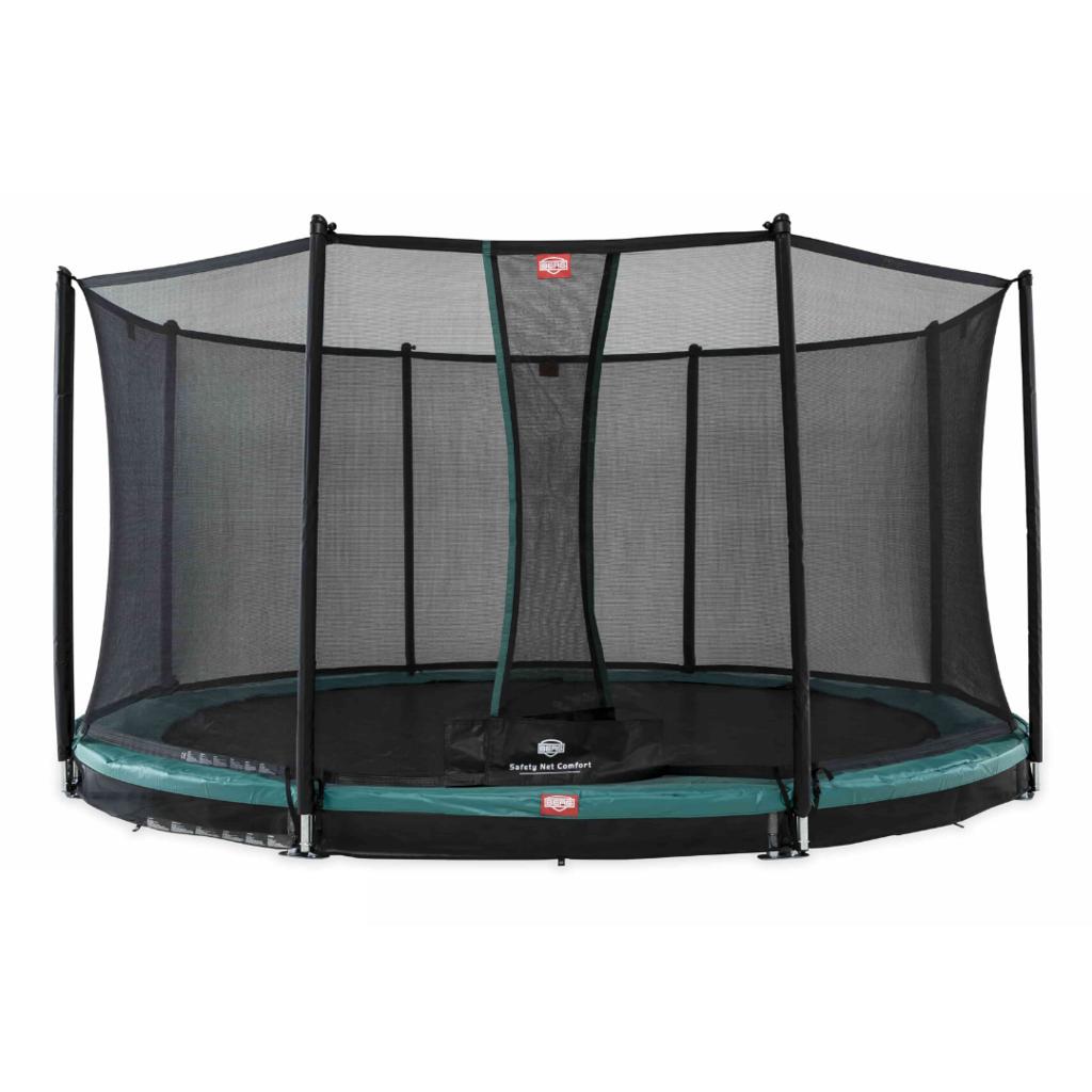 BERG trampolines Trampoline Inground Champion 380 groen + veiligheidsnet Comfort