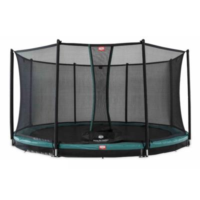 BERG trampolines Trampoline Inground Champion Green 380 + safety net Comfort