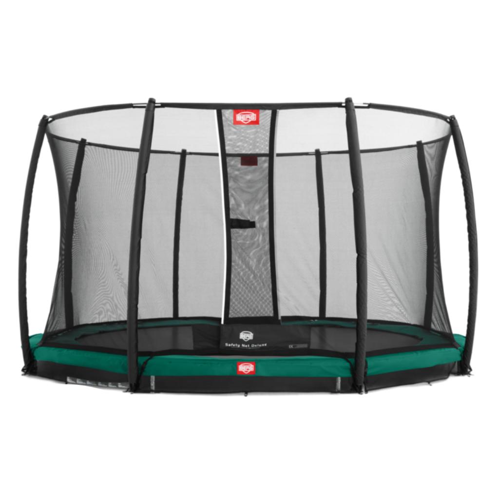 BERG trampolines Trampoline Inground Champion 380 groen + veiligheidsnet Deluxe