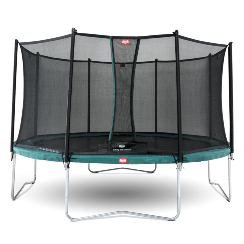 BERG trampolines Berg Trampoline Favorit Vert 380 + filet de sécurité Comfort