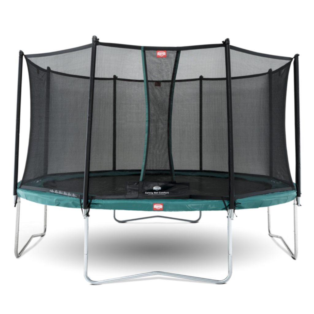 BERG trampolines Trampoline Favorit 380 groen + veiligheidsnet Comfort