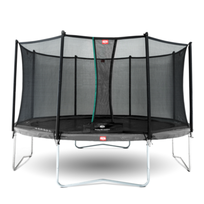 BERG trampolines Trampoline Favorit Grey 380 + safety net Comfort