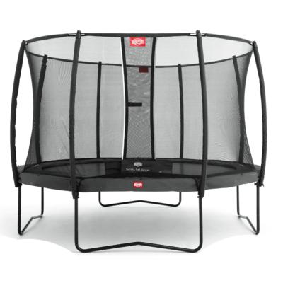 BERG trampolines Trampoline Champion Gris 380 + filet de sécurité Deluxe