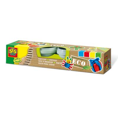 SES Pâte à modeler Eco 4 couleurs