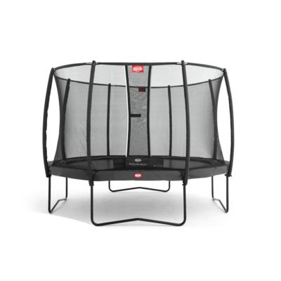 BERG trampolines Trampoline Champion Gris 430 + filet de sécurité Deluxe