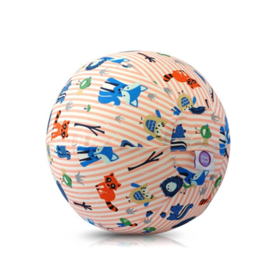Bubabloon Balloon cover 'Animals stripes pink'