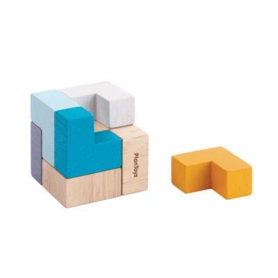 Plan Toys Mini 3D kubus puzzel