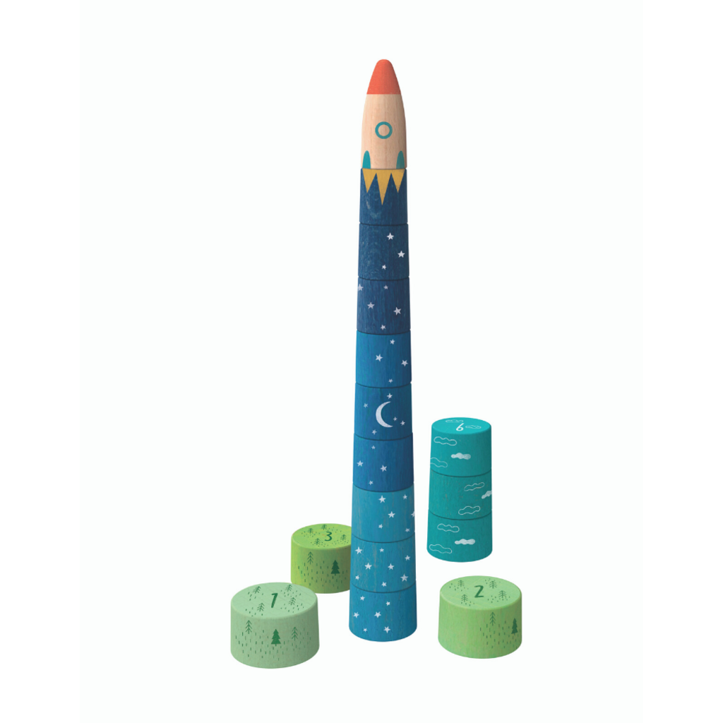 Londji Up to the stars Wooden Stacking Game