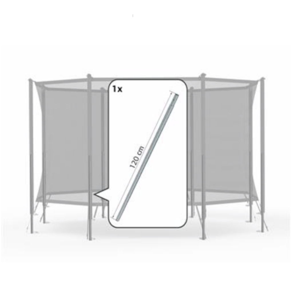 BERG trampolines Safety net Comfort onderpaal + veerclip (120cm)
