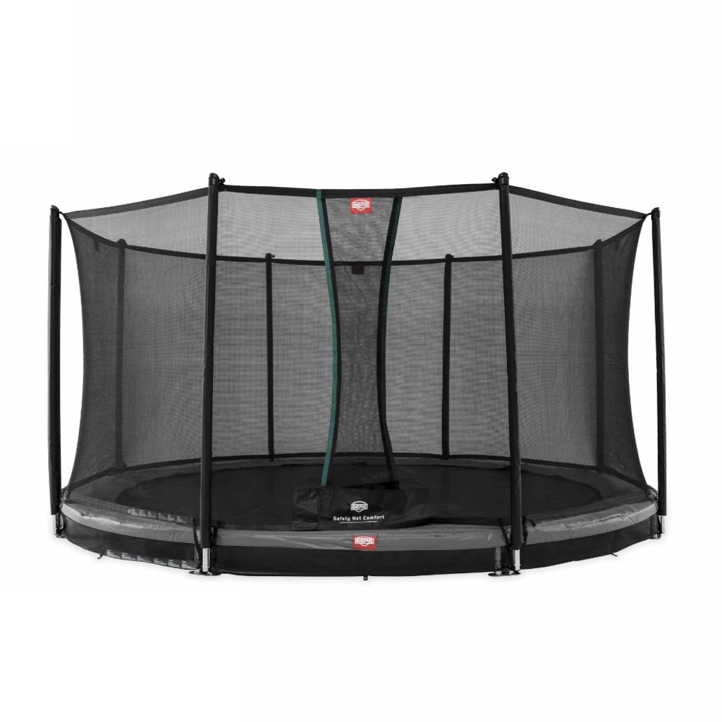 BERG trampolines Trampoline Inground Champion Grey 380 + safety net Comfort
