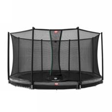 BERG trampolines Trampoline Inground Champion 380 grijs + veiligheidsnet Comfort
