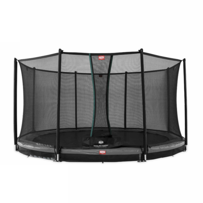 BERG trampolines Trampoline Inground Champion Gris 380 + filet de sécurité Comfort
