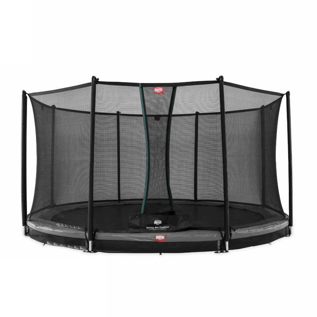 BERG trampolines Trampoline Inground Champion 430 grijs + veiligheidsnet Comfort