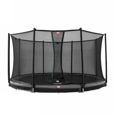 BERG trampolines Trampoline Inground Champion Gris 430 + filet de sécurité Comfort