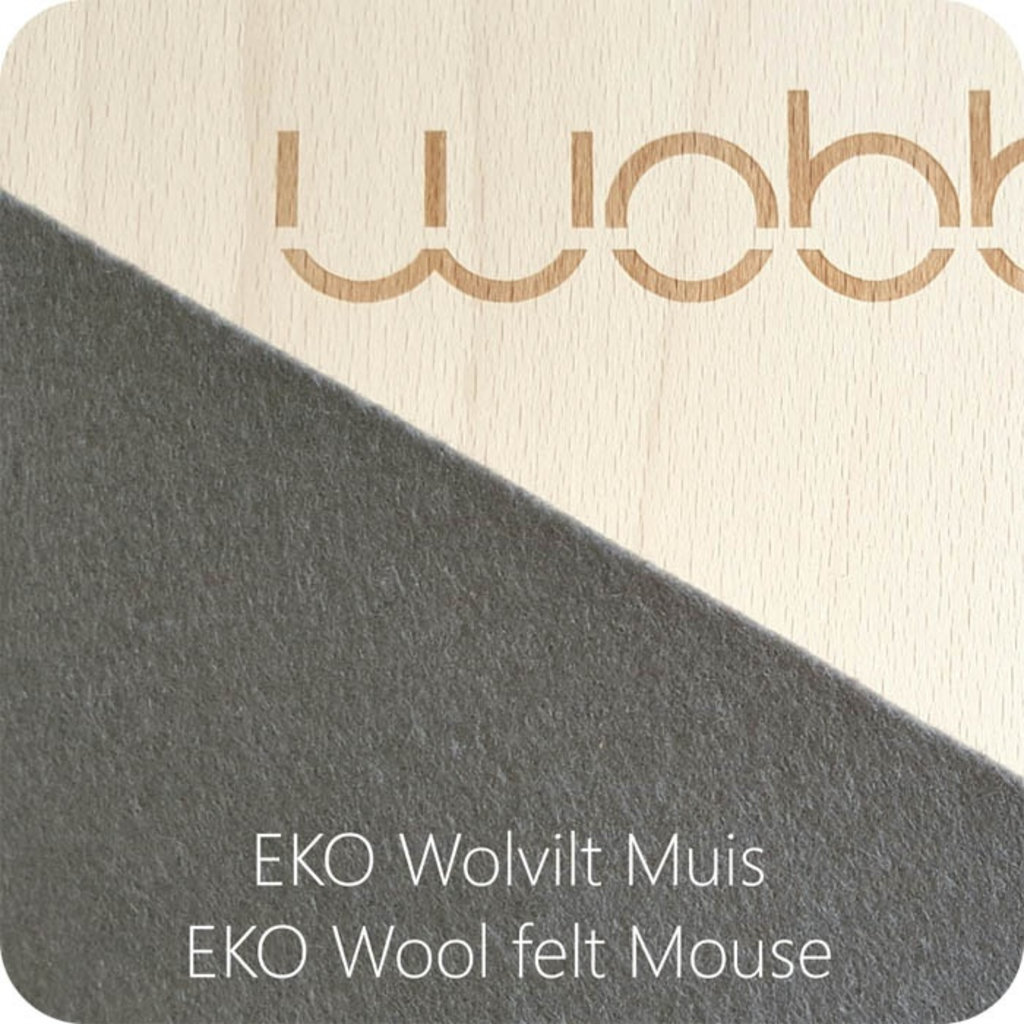 Wobbel Wobbel original blank lacquered with felt mouse grey