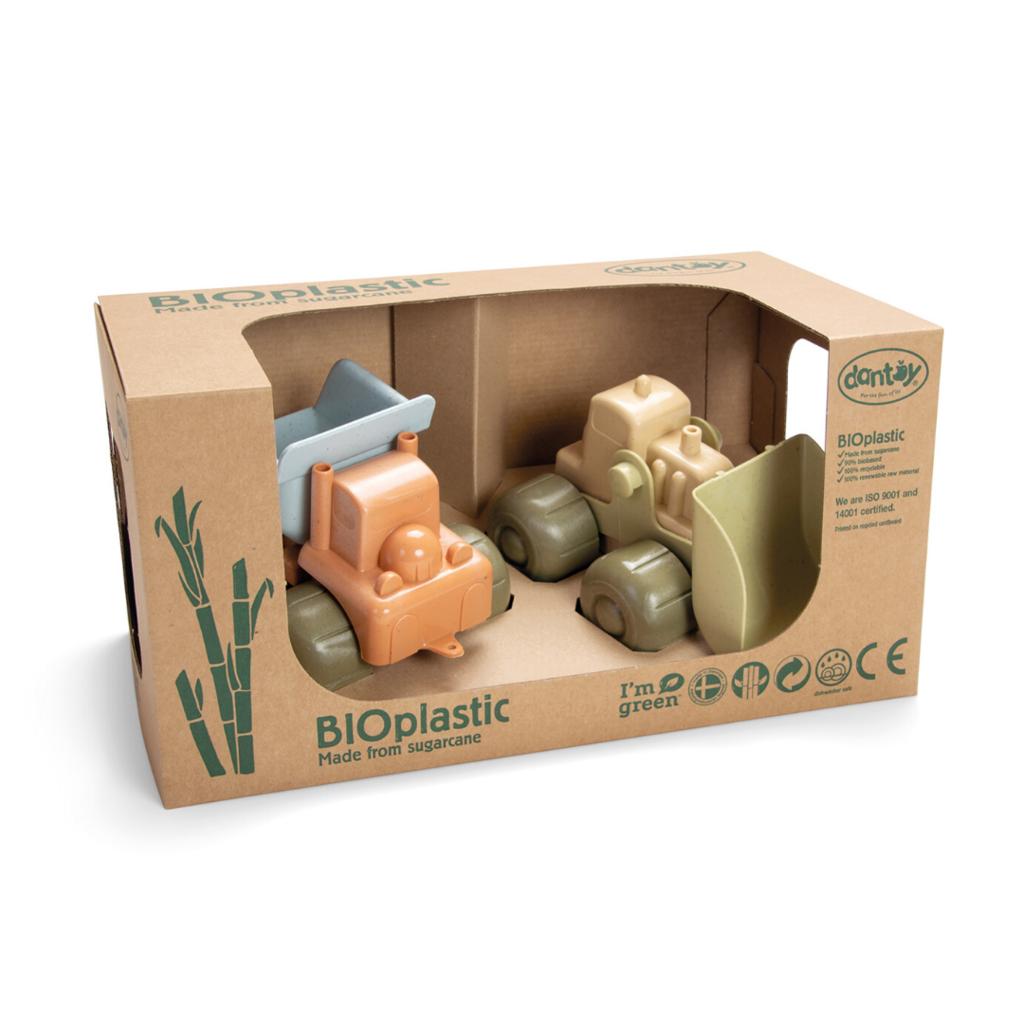 Dantoy Bio plastic werfvoertuigenset