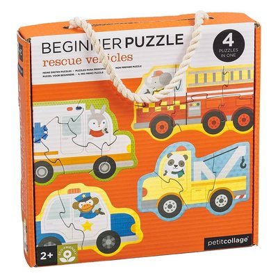 Petit Collage Resue vehicles beginner puzzle