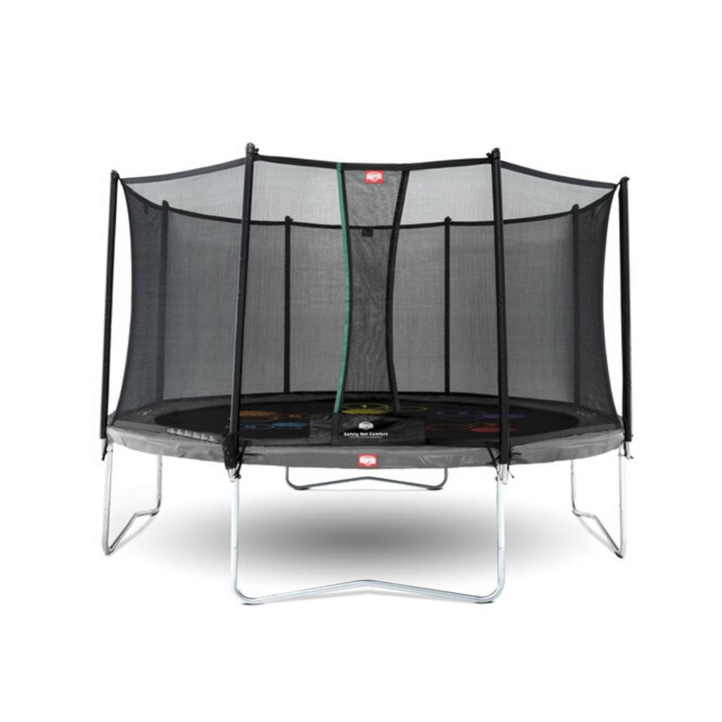BERG trampolines Trampoline Favorit  Levels 430 grijs + veiligheidsnet Comfort