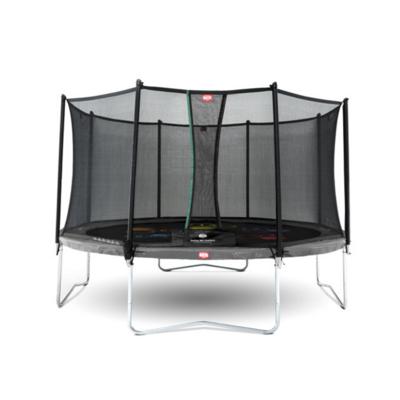 BERG trampolines Trampoline Favorit  Levels Gris 430 + filet de sécurité Comfort