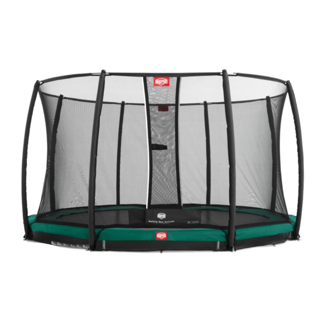 BERG trampolines Trampoline Inground Champion 430 groen + veiligheidsnet DLX XL