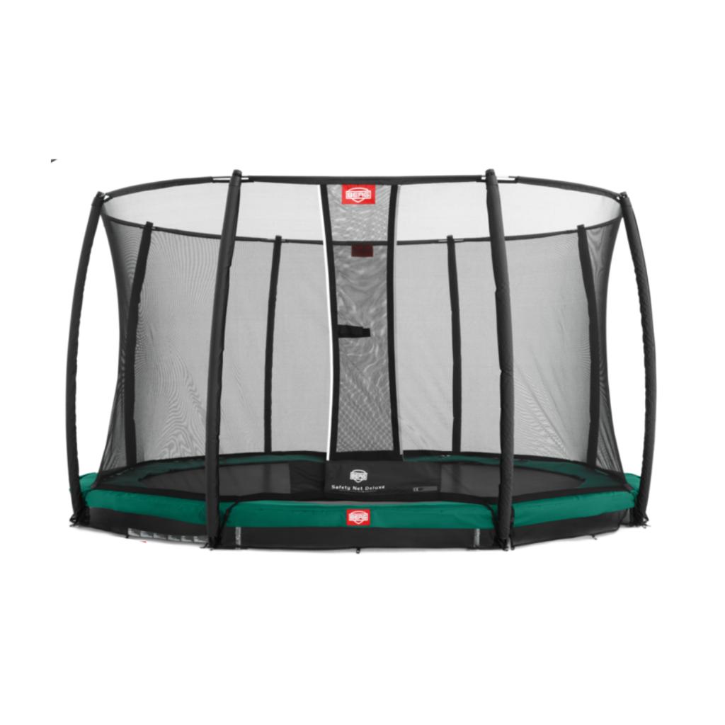 BERG trampolines Trampoline Inground Champion 430 groen + veiligheidsnet Deluxe