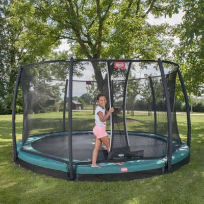 BERG trampolines Trampoline Inground Champion Vert 430 + filet de sécurité Deluxe