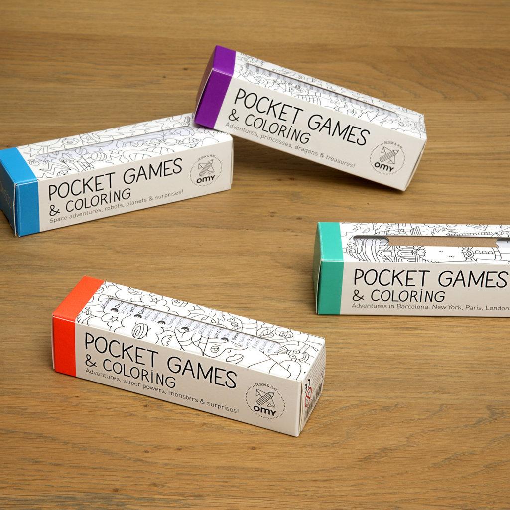 OMY Pocket Kleurplatenset (4st)
