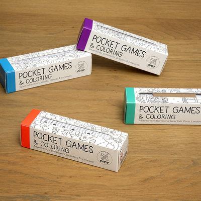 OMY Pocket set Coloring games (4p)
