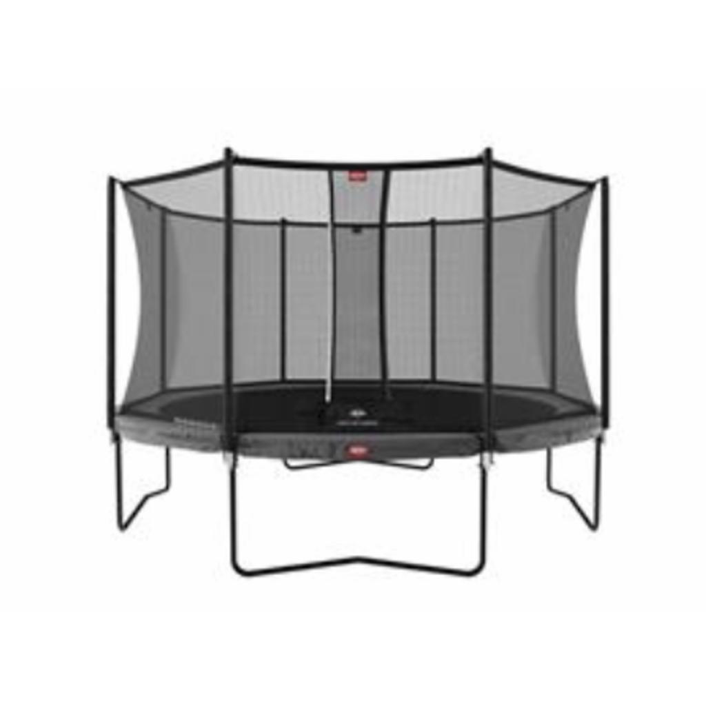 BERG trampolines Trampoline Champion 380 grijs + veiligheidsnet Comfort