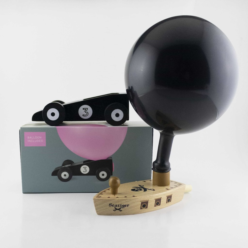Donkey Balloon boat and car black