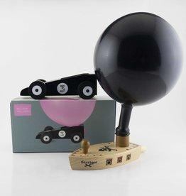 Donkey Bâteau et voiture ballon noir