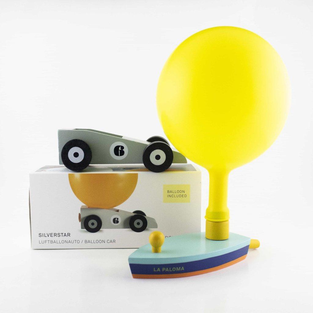 Donkey Balloon boat and car orange