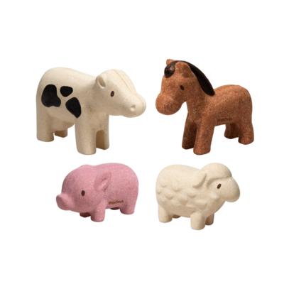 Plan Toys Boerderijdieren (4 stuks)