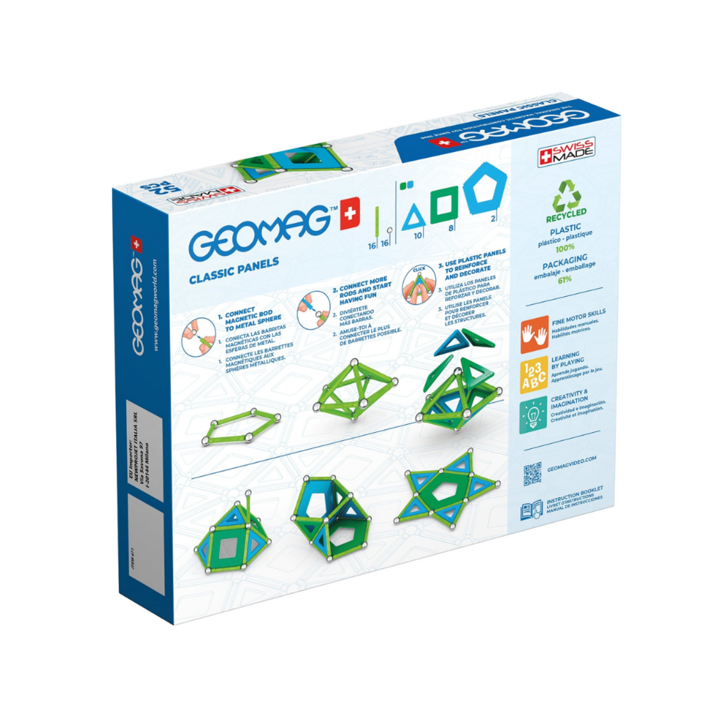 Geomag Classic Panels Green Line 52 pieces
