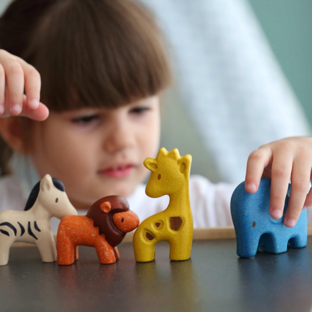 Plan Toys Wilde dierenset (4 stuks)