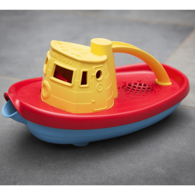 Green Toys Sleepboot geel