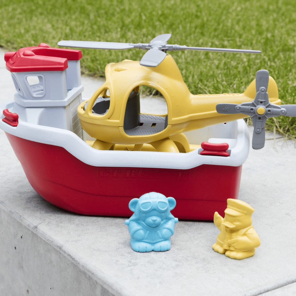 Green Toys Green Toys lifeboat & helicopter
