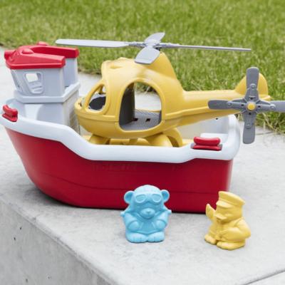 Green Toys Canot de sauvetage avec hélicoptère